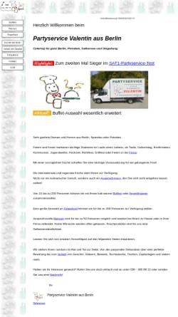 Vorschau der mobilen Webseite www.partyservice-valentin.de, Partyservice Valentin