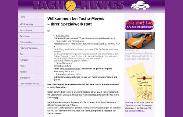 Vorschau von www.tacho-mewes.de, Tacho Mewes, Inh. Inga Mewes