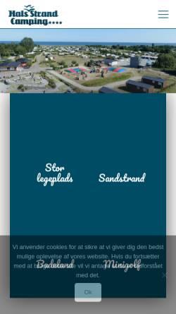 Vorschau der mobilen Webseite halsstrandcamping.dk, Hals Strand Camping