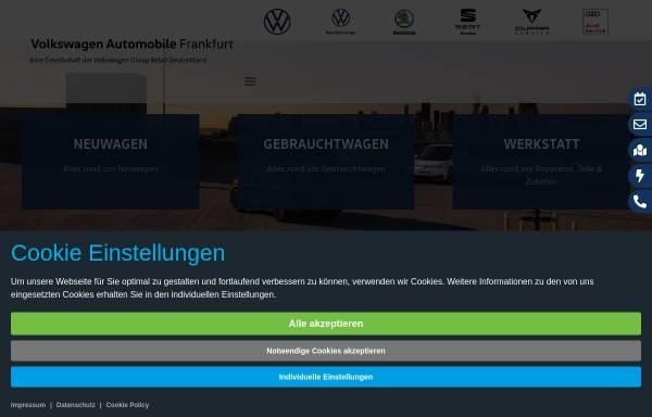 Vorschau von www.volkswagen-frankfurt.de, Volkswagen Automobile Frankfurt GmbH