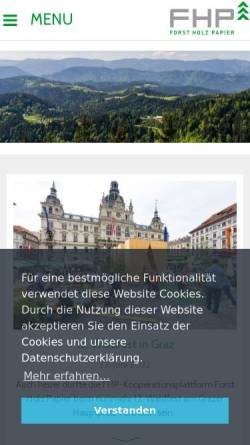 Vorschau der mobilen Webseite www.forstholzpapier.at, Kooperationsabkommen Forst-Platte-Papier (FPP)