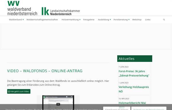 Vorschau von www.waldverband-noe.at, Niederösterreichischer Waldverband. A-3100 St. Pölten