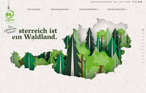 Vorschau von www.pefc.at, PEFC Austria