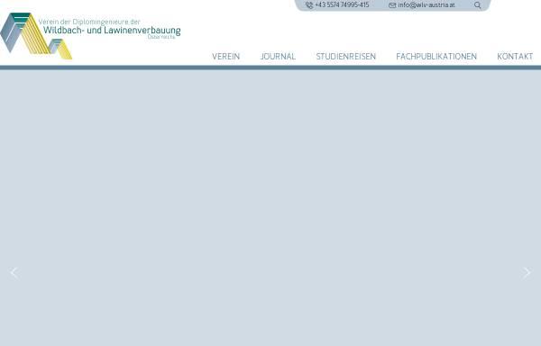 Vorschau von www.wlv-austria.at, Verein der Diplomingenieure der Wildbach- und Lawinenverbauung