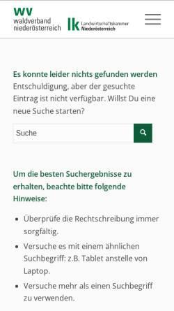 Vorschau der mobilen Webseite www.raabs.wwg.at, Waldwirtschaftsgemeinschaft Raabs an der Thaya. A-3820 Raabs an der Thaya