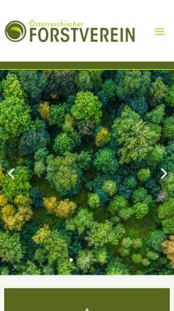 Vorschau der mobilen Webseite www.forstverein.at, Österreichischer Forstverein
