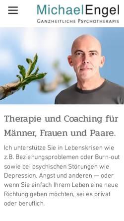 Vorschau der mobilen Webseite engel-psychotherapie.de, Michael Engel