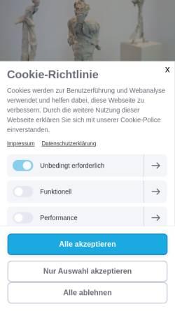 Vorschau der mobilen Webseite www.koenigsart.de, Künstlerpuppen aus Filz und Papiermaché
