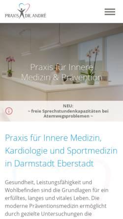 Vorschau der mobilen Webseite www.internistin-darmstadt.de, André, Dr. med. Annamaria