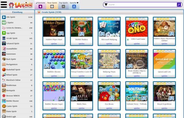Vorschau von in2games.net, In2games- gratis Online-Flashgames und kostenlose Downloadspiele