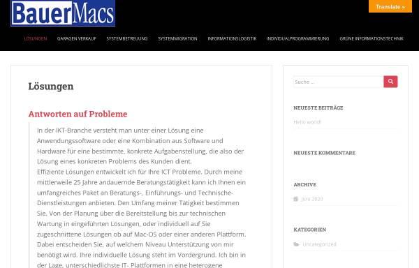 Vorschau von www.bauer-macs.de, BauerMacs Mac OS Spezialist im Allgäu