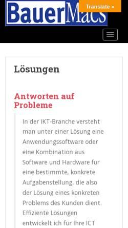 Vorschau der mobilen Webseite www.bauer-macs.de, BauerMacs Mac OS Spezialist im Allgäu