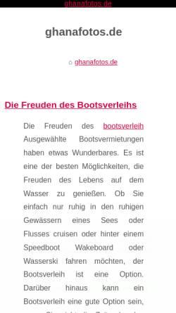 Vorschau der mobilen Webseite www.ghanafotos.de, Ghanafotos [Björn Pötters]