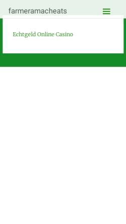 Vorschau der mobilen Webseite www.farmeramacheats.de, Farmeramacheats