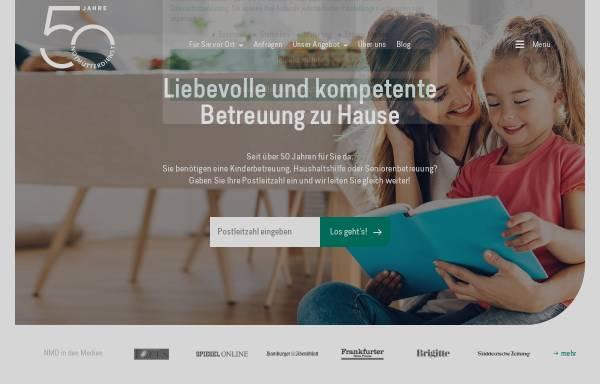 Vorschau von www.notmuetterdienst.de, Notmütterdienst Familien- und Seniorenhilfe e.V.