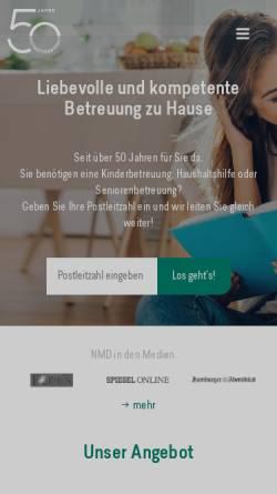 Vorschau der mobilen Webseite www.notmuetterdienst.de, Notmütterdienst Familien- und Seniorenhilfe e.V.