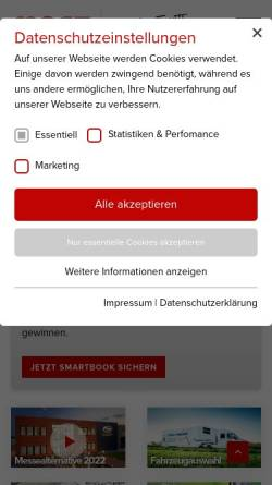Vorschau der mobilen Webseite www.most-mobile.de, Most Mobile Specials GmbH