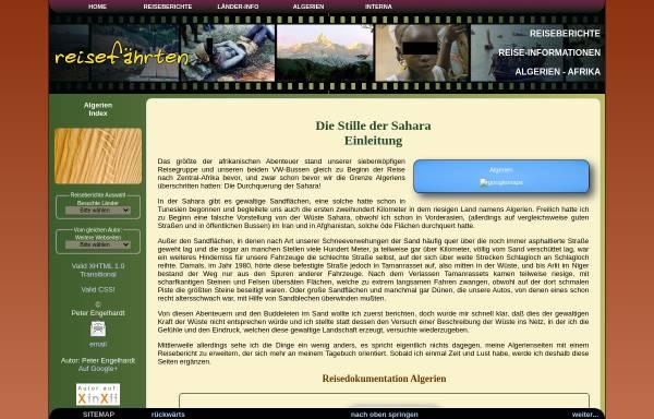 Vorschau von www.xn--reisefhrten-q8a.de, Die Stille der Sahara [Peter Engelhardt]