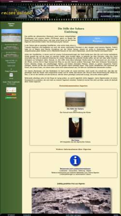 Vorschau der mobilen Webseite www.xn--reisefhrten-q8a.de, Die Stille der Sahara [Peter Engelhardt]