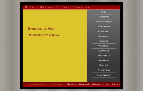 Vorschau von www.travellernet.ch, Reiseberichte Afrika [Marcel Ochsner]