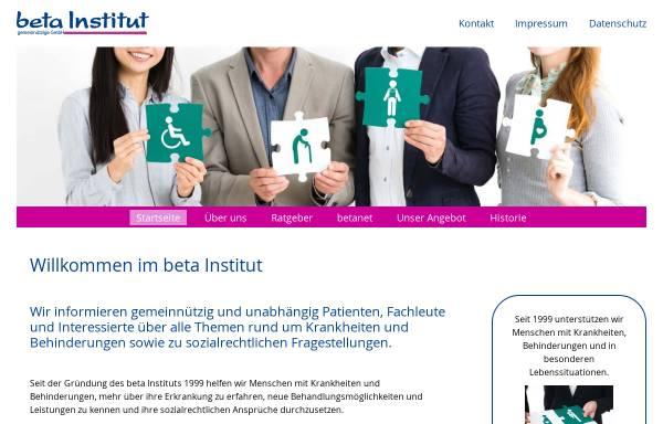 Vorschau von www.betainstitut.de, Beta Institut