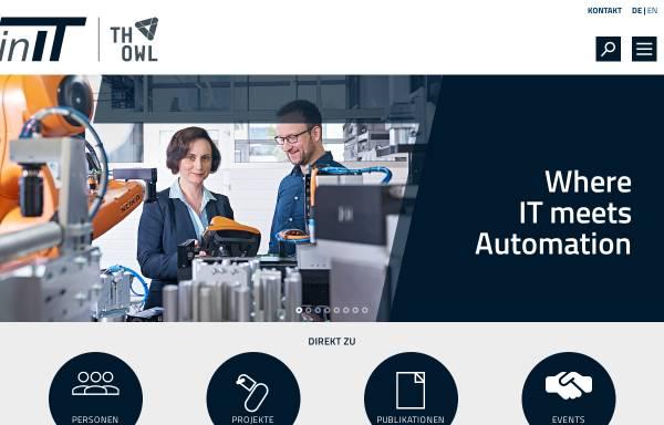 Vorschau von www.hs-owl.de, Institut für Industrielle Informationstechnik (kurz: inIT - Institut Industrial IT)