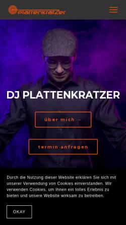 Vorschau der mobilen Webseite www.dj-plattenkratzer.de, DJ Plattenkratzer