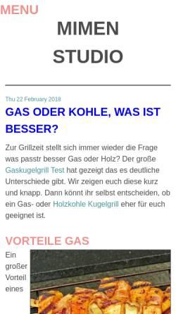Vorschau der mobilen Webseite www.mimenstudio.de, Mimenstudio Dresden