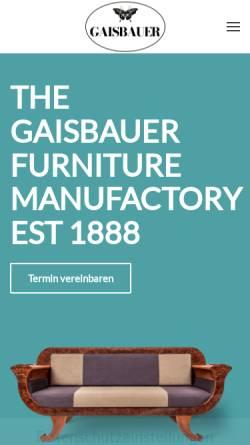 Vorschau der mobilen Webseite www.gaisbauer.co.at, Gaisbauer Interior Design