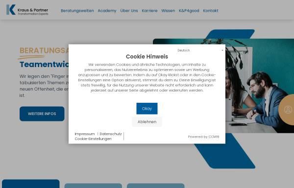 Vorschau von www.kraus-und-partner.de, Unternehmensberatung
