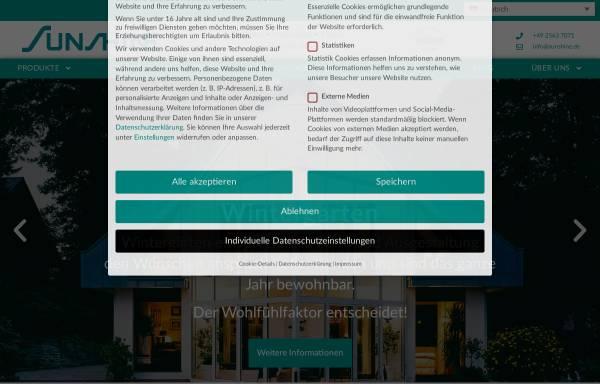 Vorschau von www.sunshine.de, sunshine.de - Gemütlicher Wintergarten