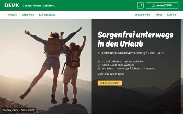 Vorschau von www.devk.de, DEVK