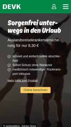 Vorschau der mobilen Webseite www.devk.de, DEVK