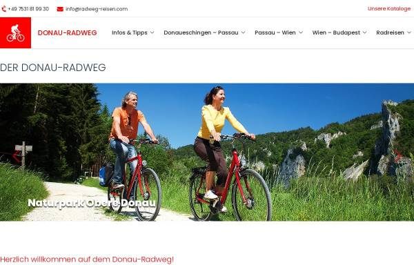 Vorschau von www.donau-radweg.info, Donau-Radweg