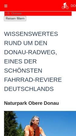 Vorschau der mobilen Webseite www.donau-radweg.info, Donau-Radweg