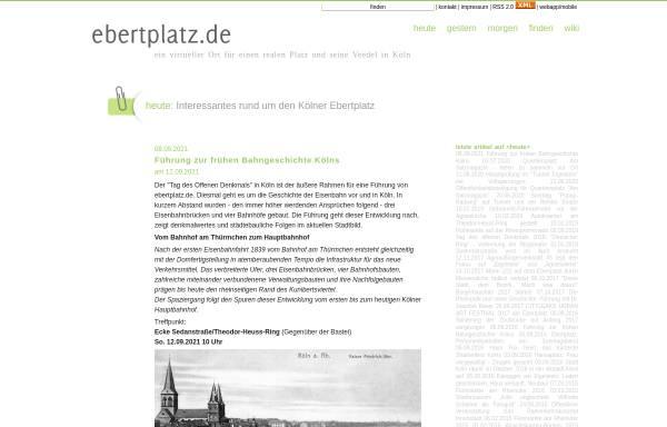 Vorschau von www.ebertplatz.de, Ebertplatz.de