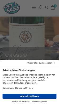 Vorschau der mobilen Webseite vomfass.de, Vom Fass