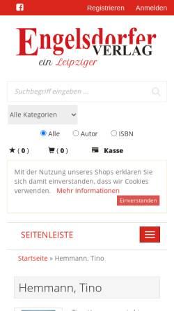Vorschau der mobilen Webseite www.tino-hemmann.de, Hemmanns