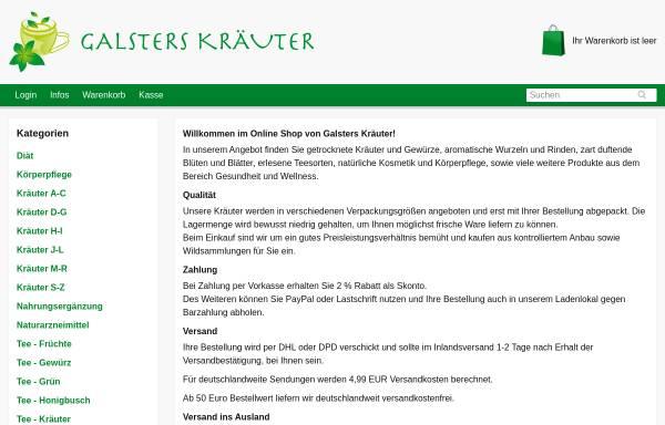 Vorschau von tee24.de, Galsters Kräuter Online-Shop