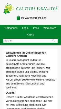 Vorschau der mobilen Webseite tee24.de, Galsters Kräuter Online-Shop