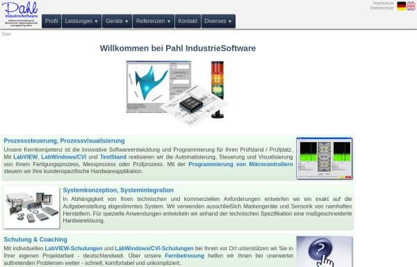 Vorschau von www.pahl-is.de, Pahl IndustrieSoftware, Inh. Carsten Pahl
