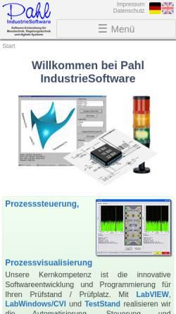 Vorschau der mobilen Webseite www.pahl-is.de, Pahl IndustrieSoftware, Inh. Carsten Pahl
