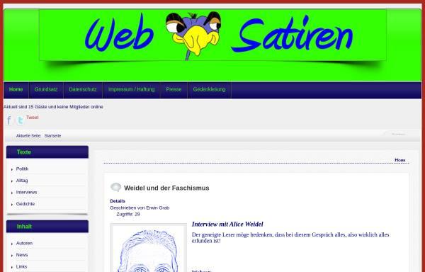 Vorschau von www.websatiren.de, Websatiren