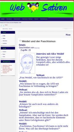 Vorschau der mobilen Webseite www.websatiren.de, Websatiren