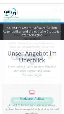 Vorschau der mobilen Webseite www.comcept-koeln.de, Comcept GmbH