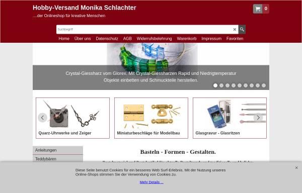 Vorschau von www.hobbyversand-schlachter.de, Hobby-Versand Monika Schlachter