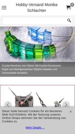 Vorschau der mobilen Webseite www.hobbyversand-schlachter.de, Hobby-Versand Monika Schlachter