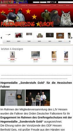 Vorschau der mobilen Webseite www.falknerei-artikel.de, Falknerei - Artikel