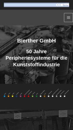 Vorschau der mobilen Webseite www.bierther.gmbh, bierther GmbH