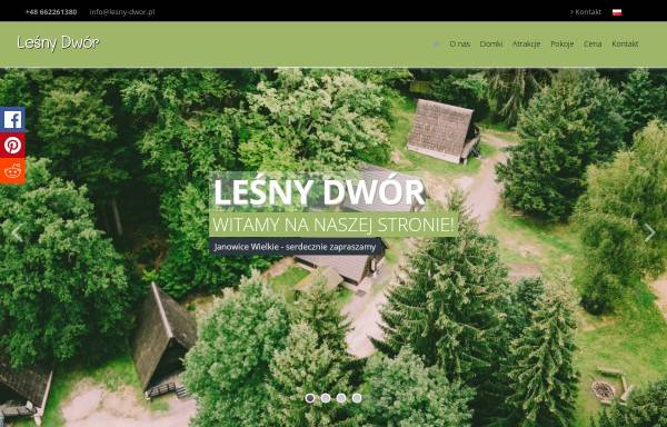 Vorschau von www.lesny-dwor.pl, Klettern und Wanern im Riesengebirge in Polen